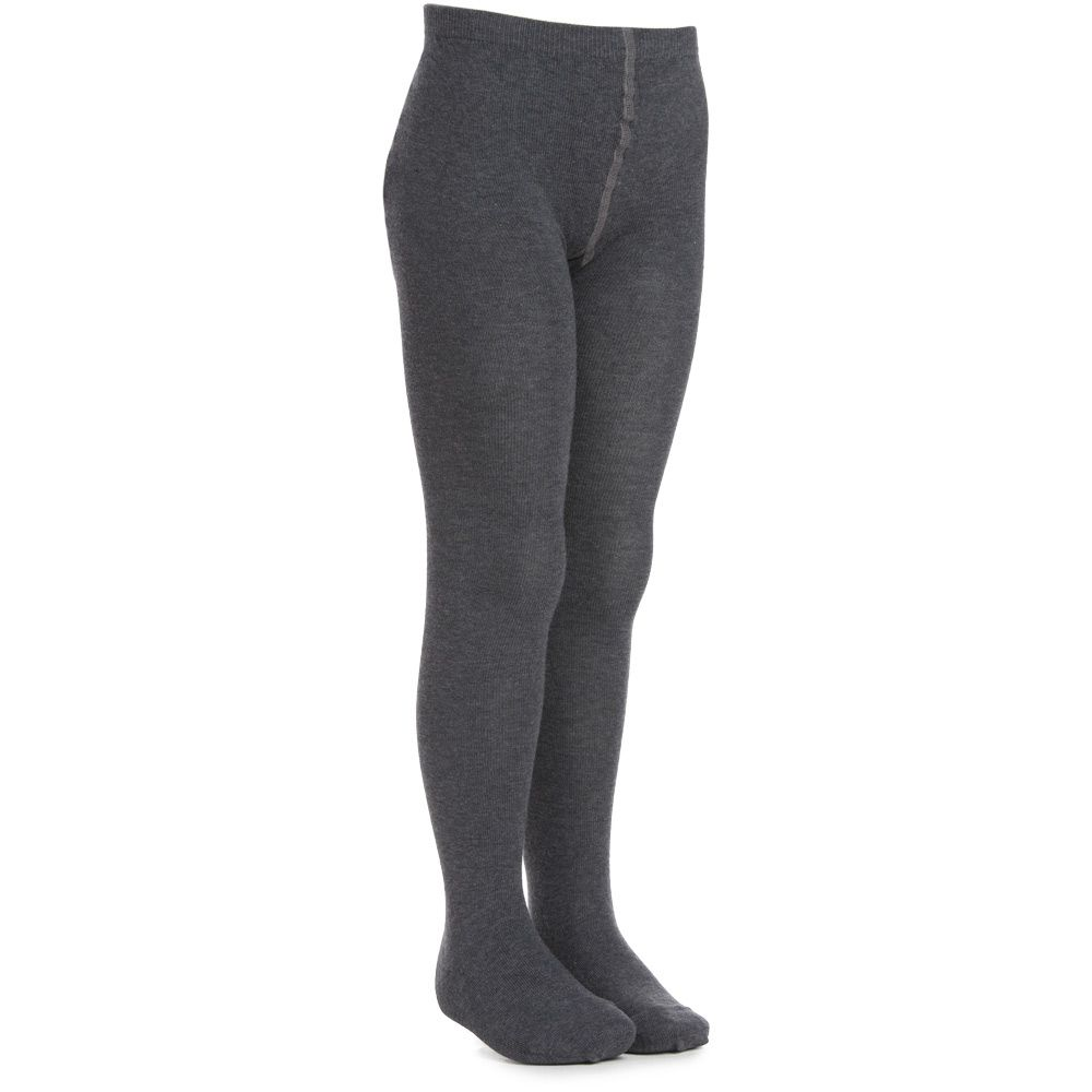 MP - Grey Cotton Tights | Childrensalon