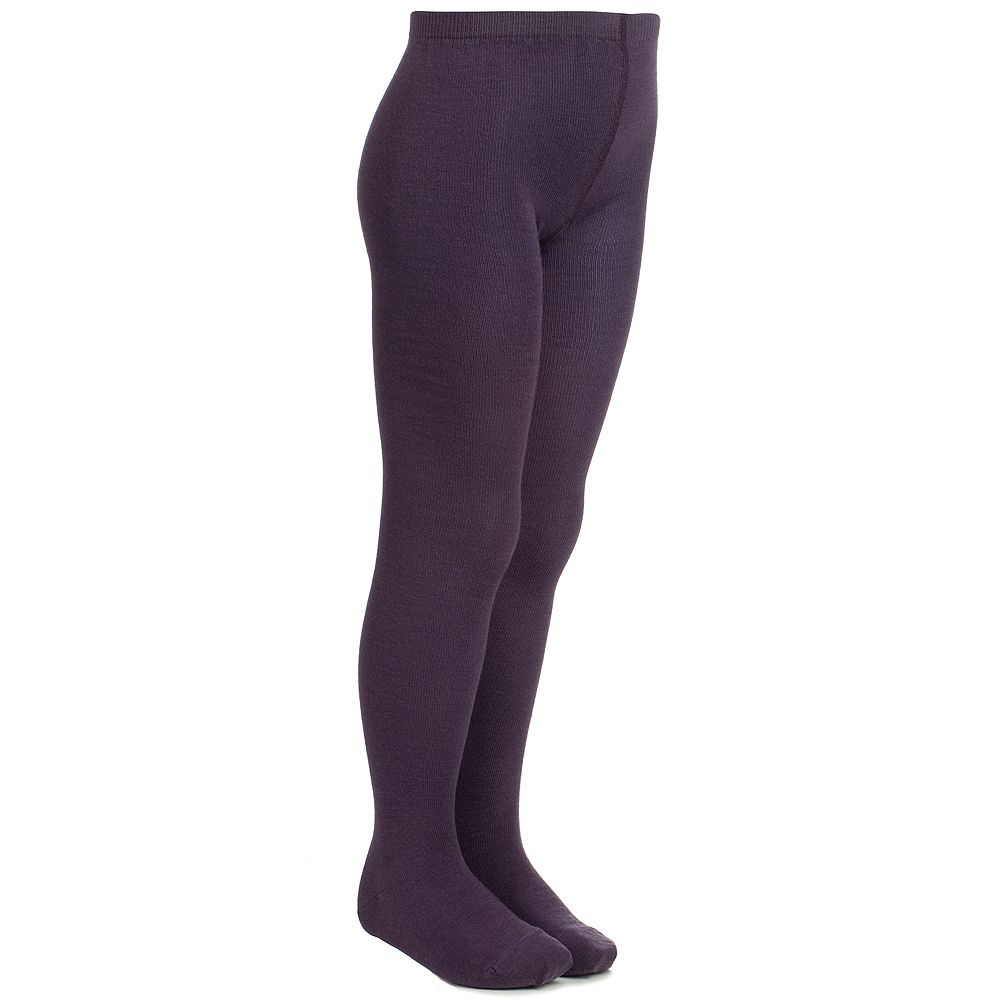 MP - Purple Plain Wool Tights | Childrensalon