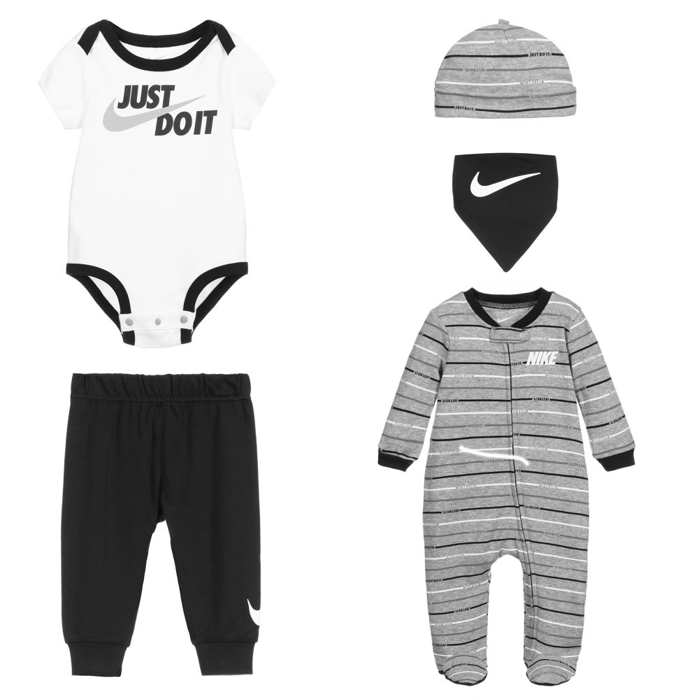 Nike - Baby Boys 5 Piece Babysuit Set