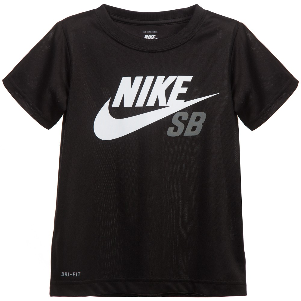 nike boys black dri fit t shirt childrensalon. Black Bedroom Furniture Sets. Home Design Ideas