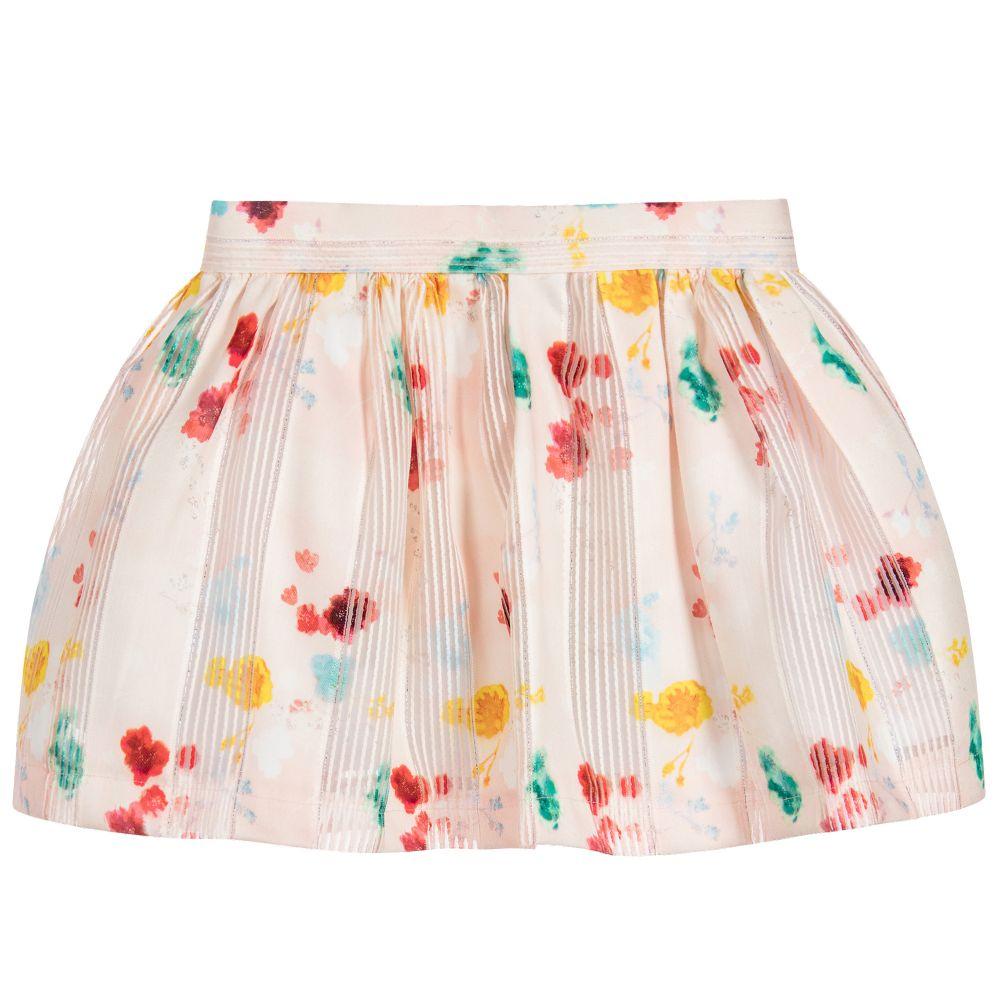 No Added Sugar - Girls Pink Floral Skirt  | Childrensalon