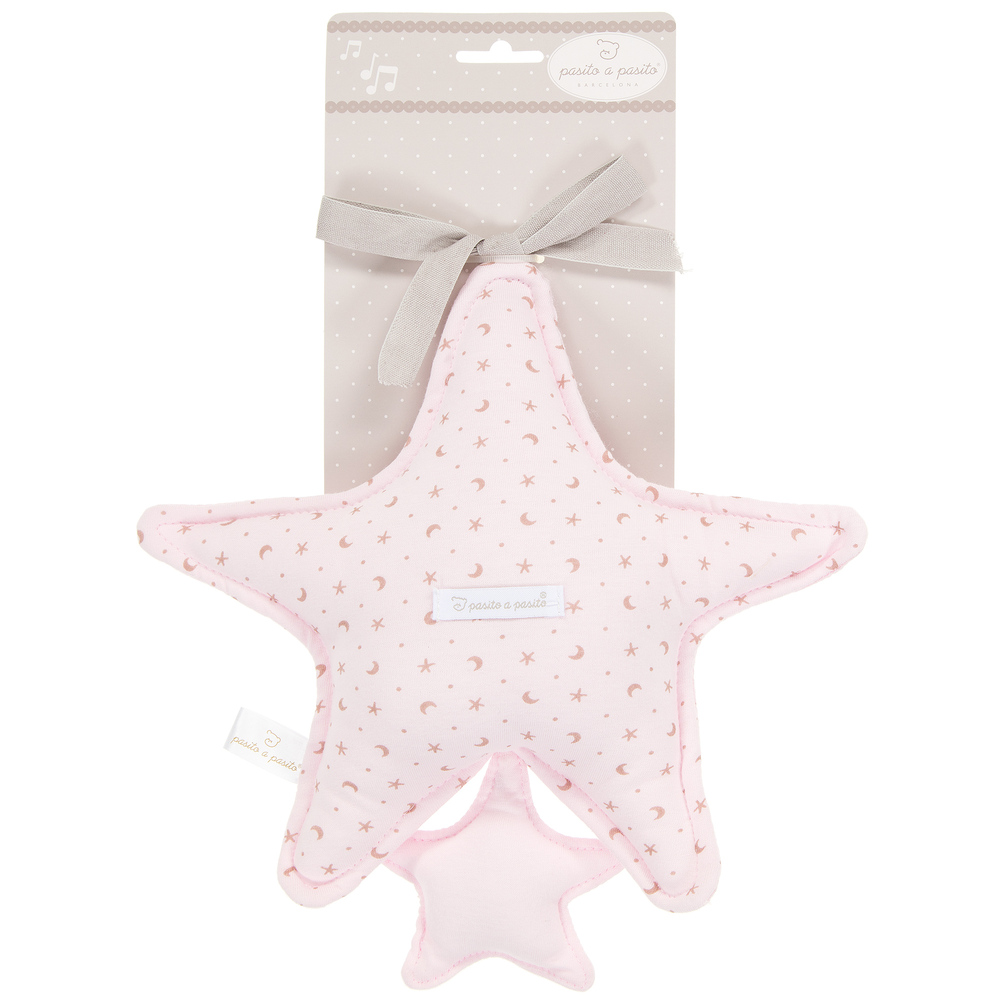 Pasito a Pasito - Girls Pale Pink Star Baby Musical Toy | Childrensalon