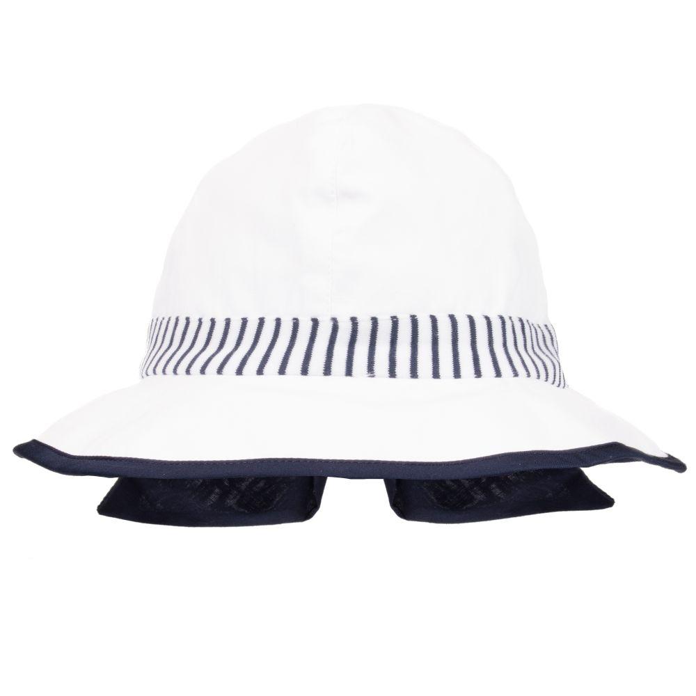 29471728 Patachou - Baby Girls Cotton Sun Hat | Childrensalon