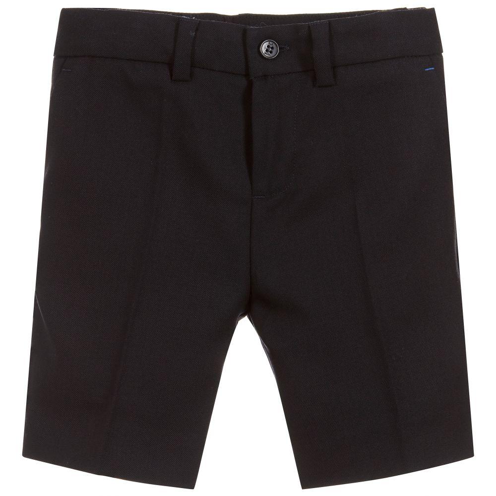 39278cfdb Paul Smith Junior - Boys Blue PAKALIN Wool Shorts   Childrensalon