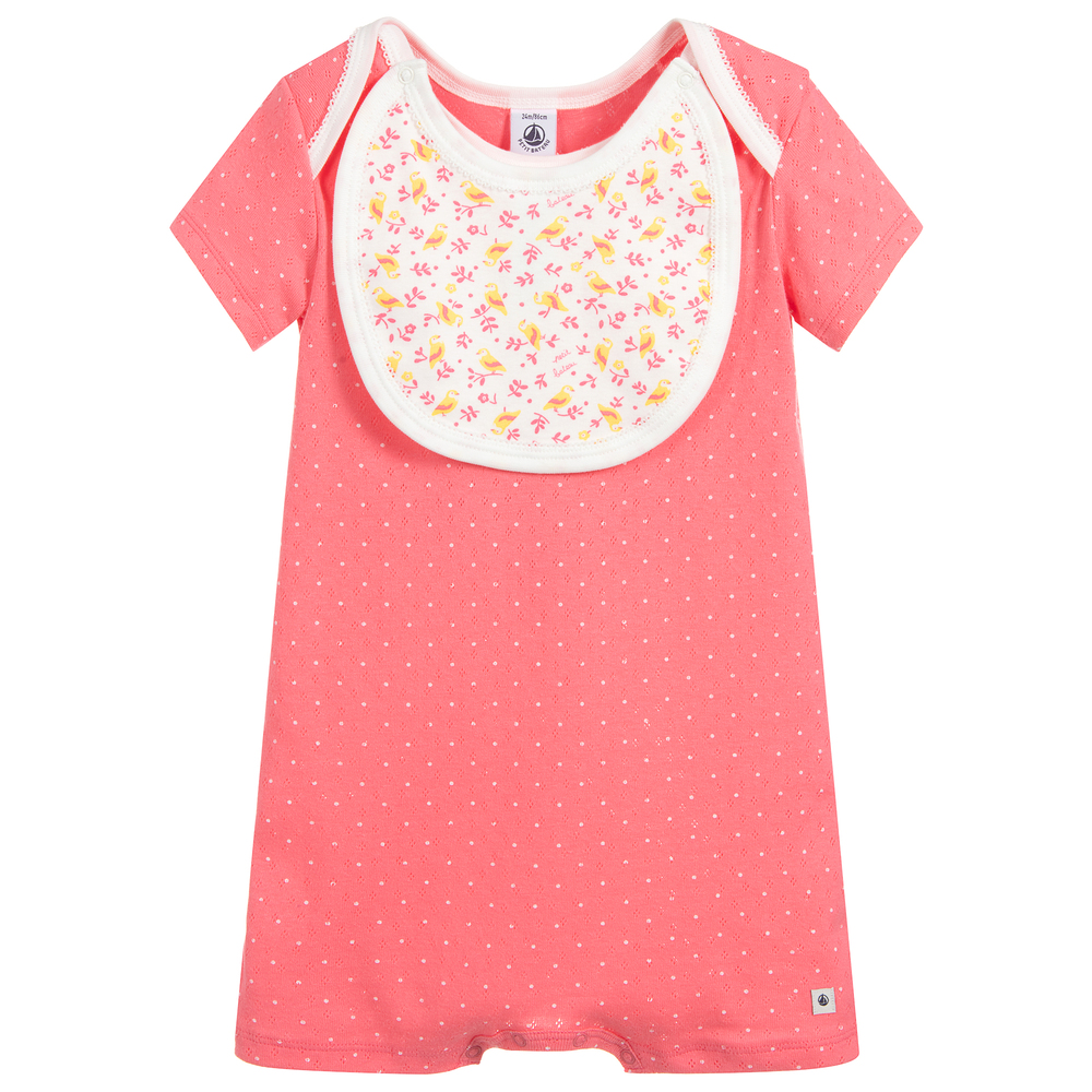 9281efb47 Petit Bateau - Baby Girls Pink Cotton Shortie
