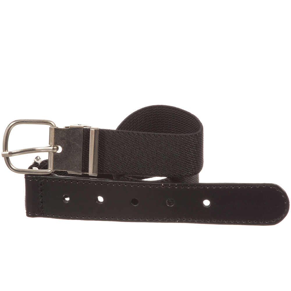 Playshoes - Black Elasticated Belt | Childrensalon