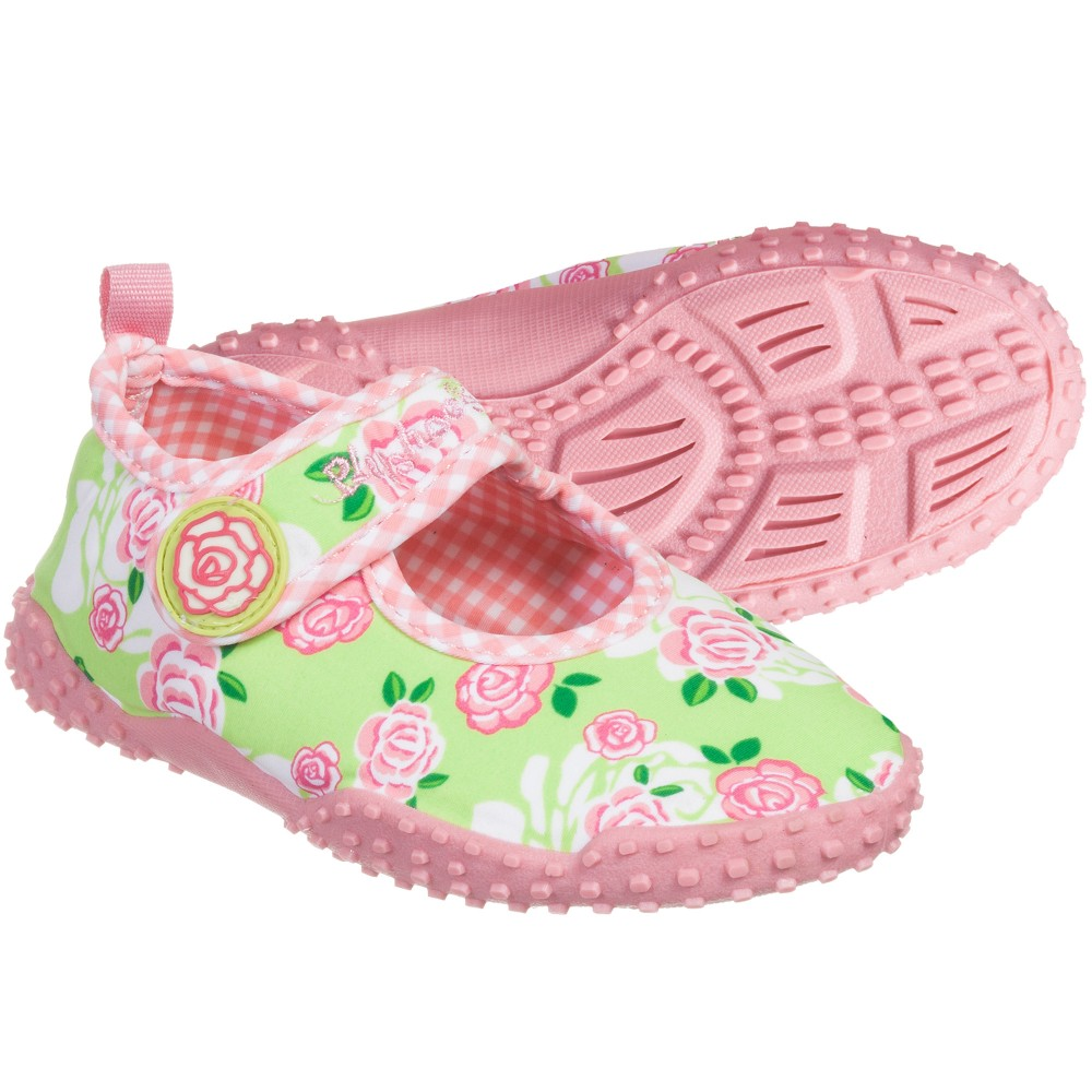 8a3011ecb80f Playshoes - Girls Green   Pink Aqua Shoes (UPF 50+)