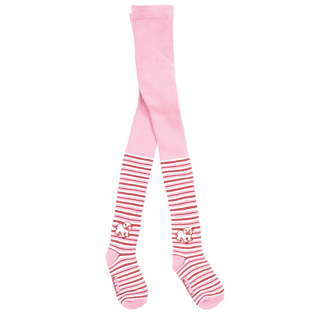 Playshoes - Girls Pink Cotton Thermal Polar Bear Tights | Childrensalon