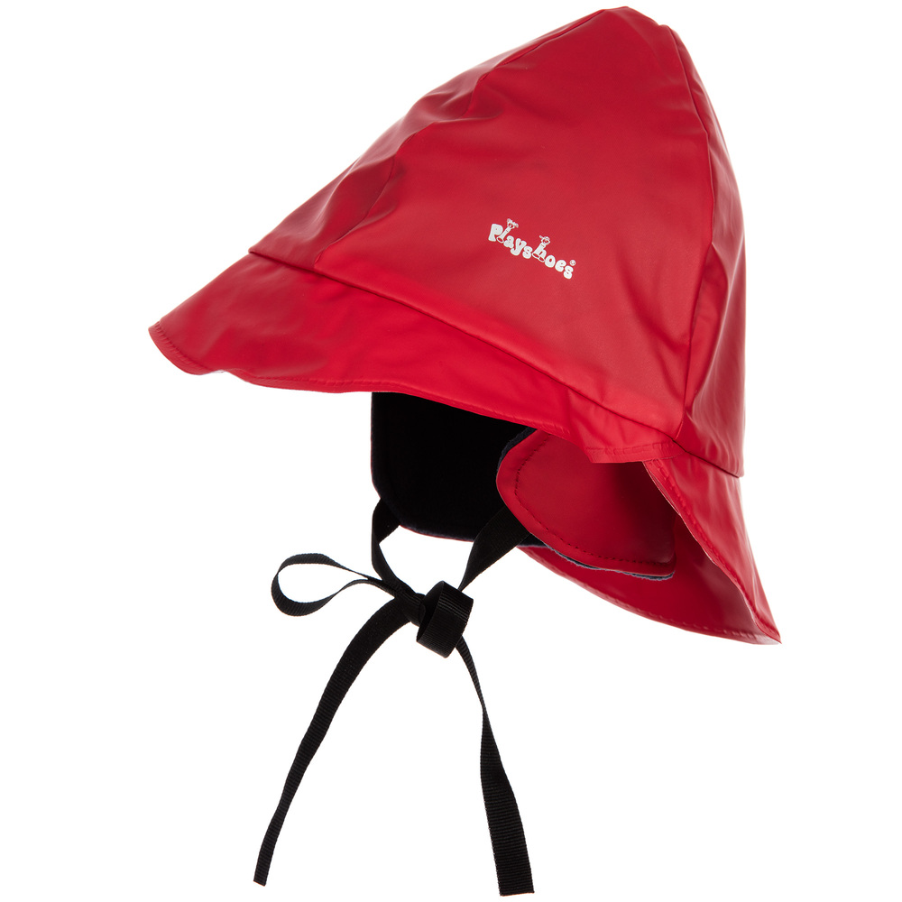 Playshoes - Red Waterproof Rain Cap | Childrensalon