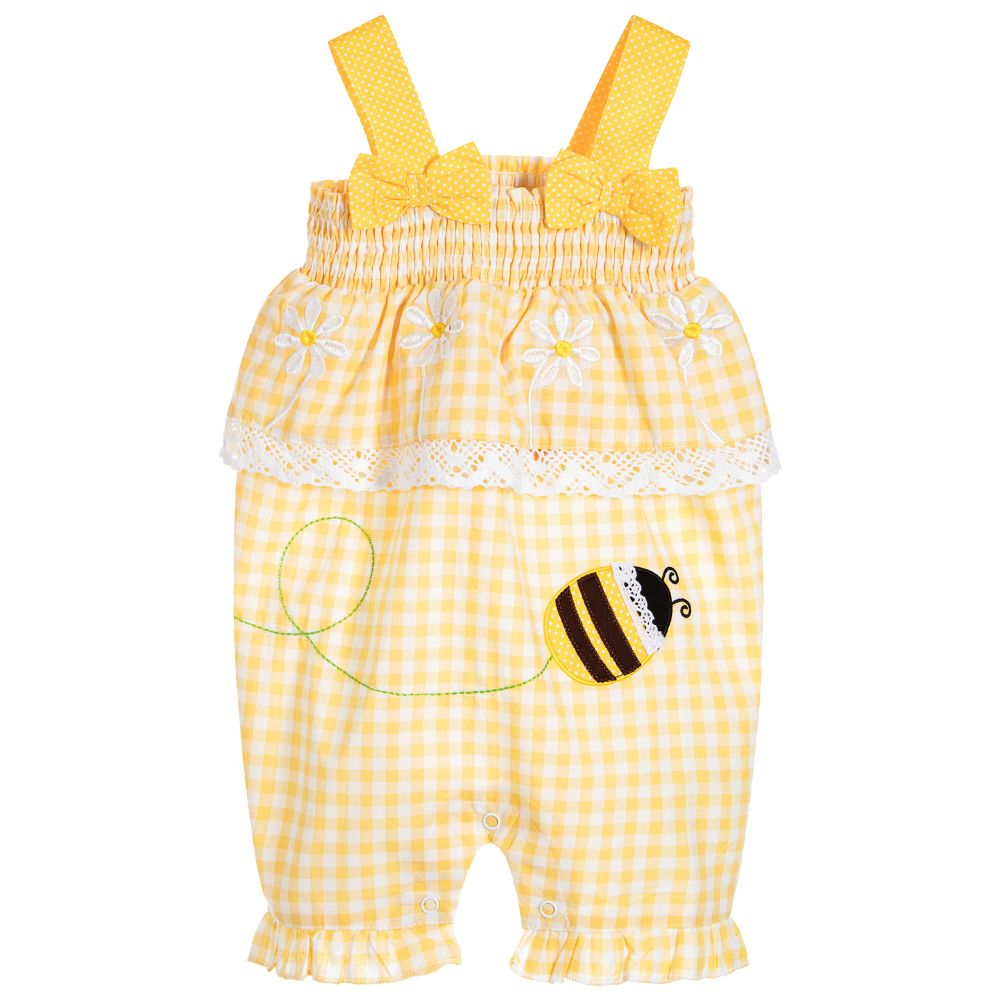 Powell Craft - Baby Girls Cotton Playsuit | Childrensalon