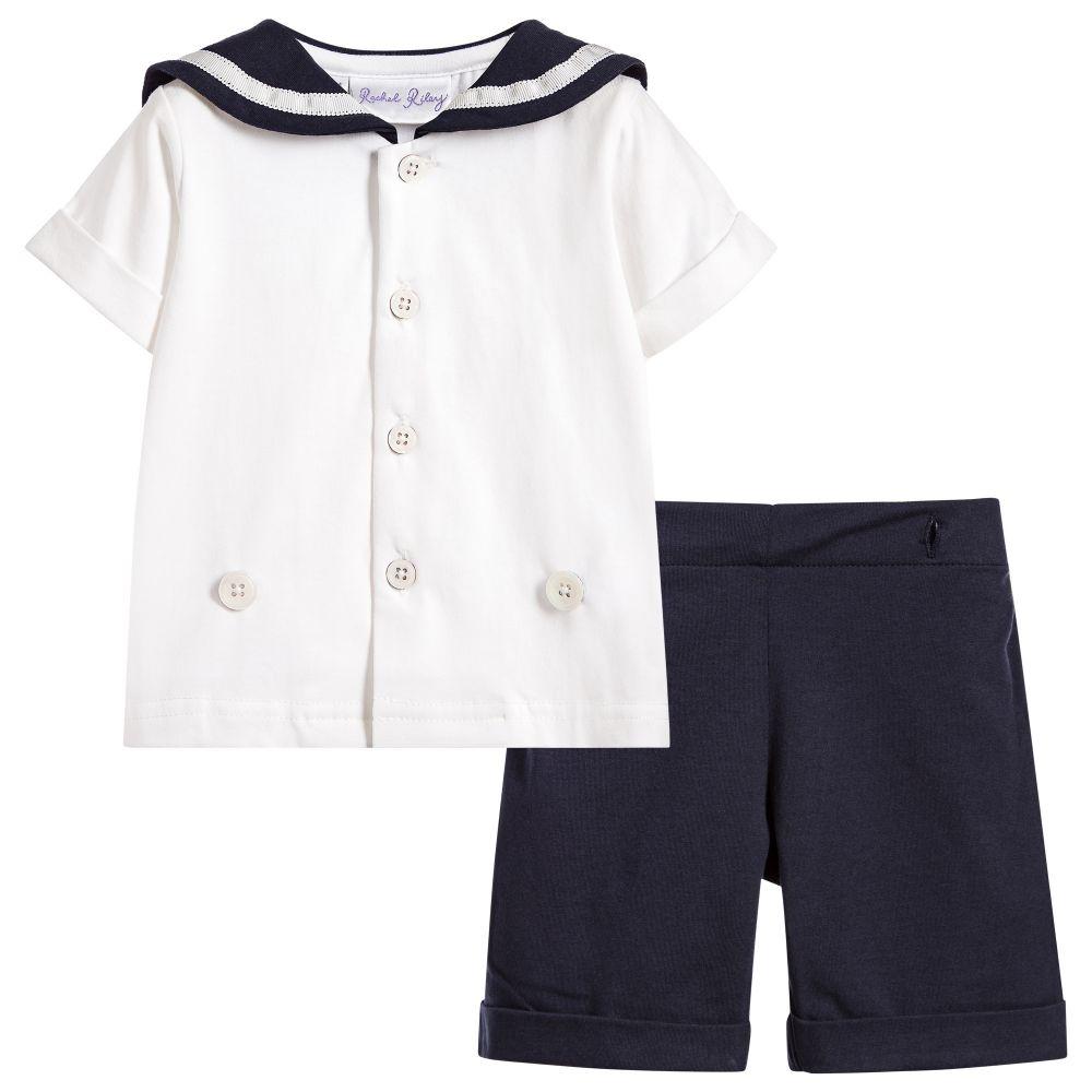 b2916a907c69 Rachel Riley - Baby Boys Blue Sailor Suit