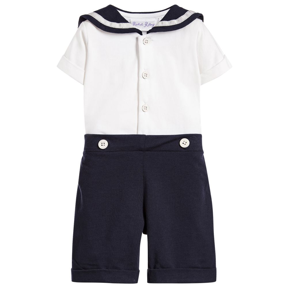 b2916a907c69 Rachel Riley - Baby Boys Blue Sailor Suit