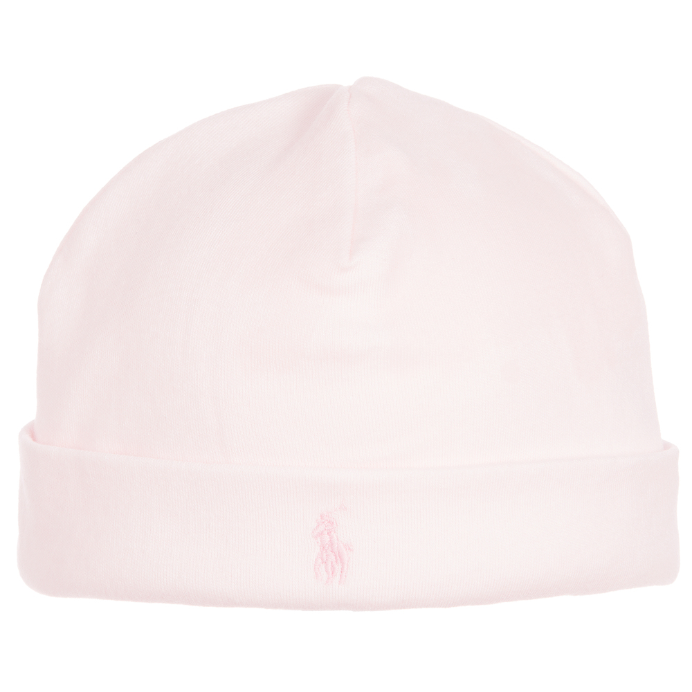 Ralph Lauren - Baby Girls Pink Cotton Hat  836eb3b75fa