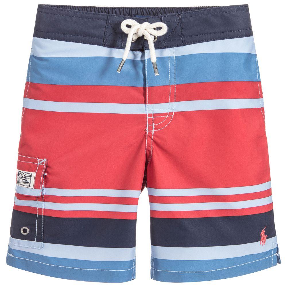 b1fedae7494cb Polo Ralph Lauren - Boys Striped Swim Shorts | Childrensalon