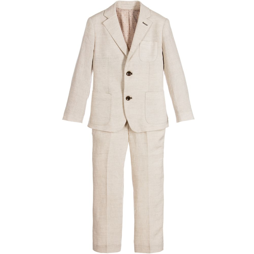 5a48ec35 Romano - Boys Beige 2 Piece Suit | Childrensalon