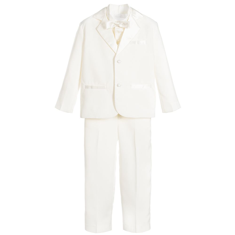 Romano Vianni - Boys Ivory 5 Piece Tuxedo Suit | Childrensalon