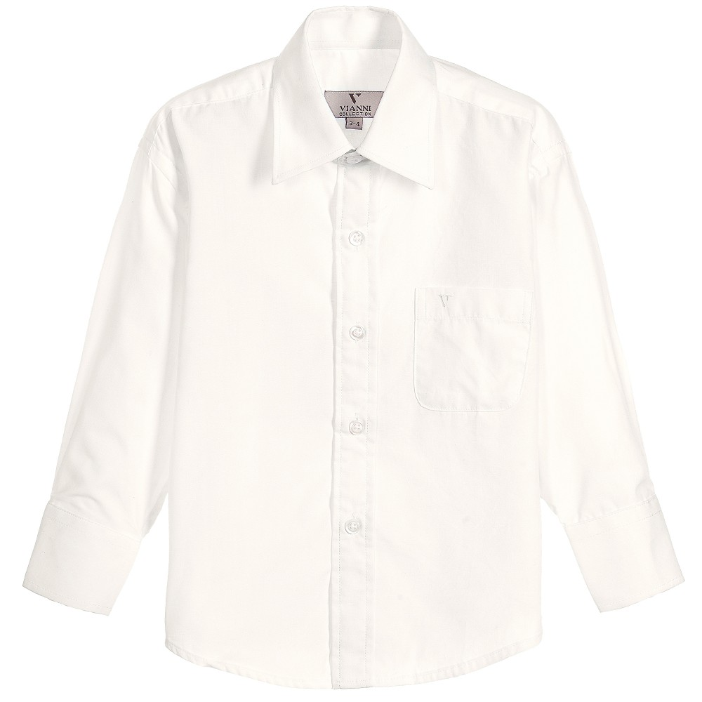 Romano Vianni - Boys Ivory Cotton Classic Shirt | Childrensalon