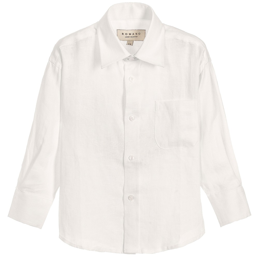 Romano - Boys Ivory Linen Shirt | Childrensalon