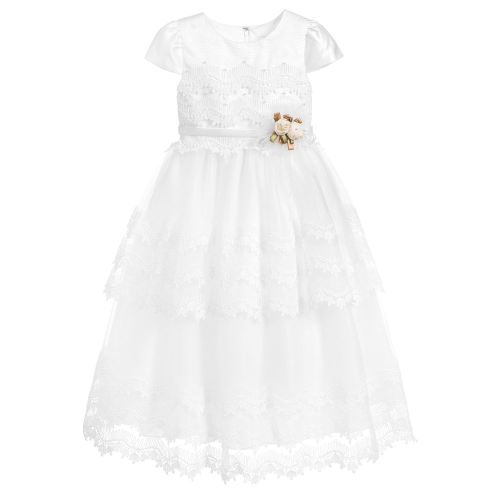 Romano Princess - Girls Ivory Lace Dress | Childrensalon