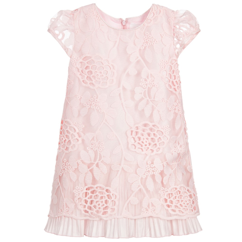 2babacb460fa Romano Princess - Girls Pink Floral Lace Dress