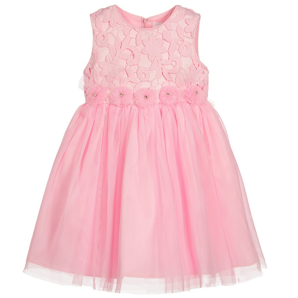 Romano Princess - Girls Sugar Pink Tulle Dress | Childrensalon