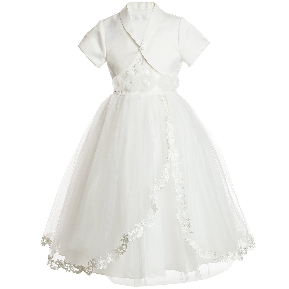Romano Princess - Ivory Dress & Bolero Set | Childrensalon