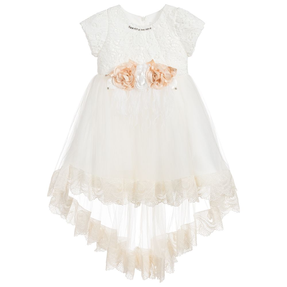 230189552b78 Romano Princess - Ivory Floral Lace Dress