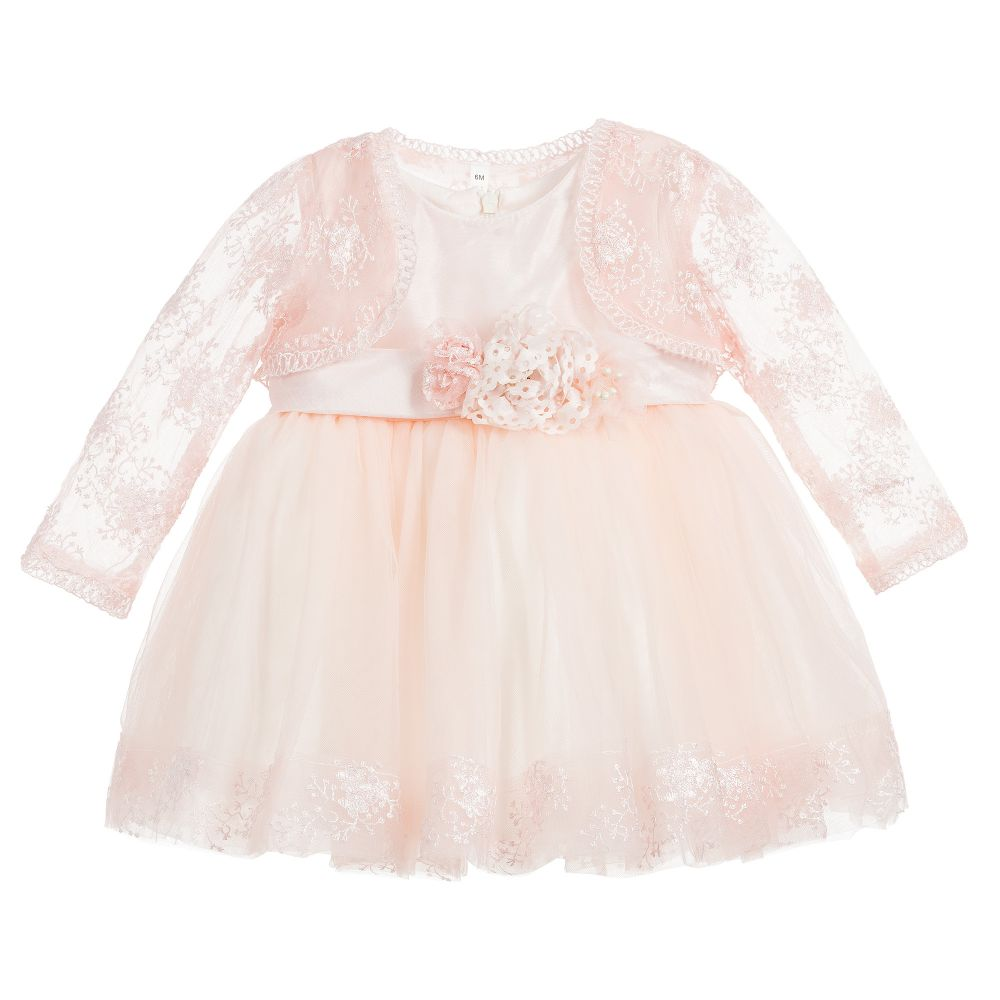 3656039a68d4 Romano Princess - Lace Baby Dress Set (2 Piece)