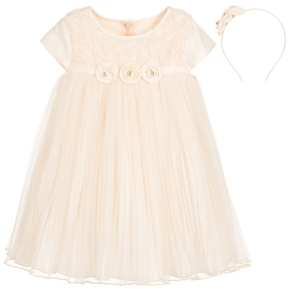 7484dd6885d6 Romano Princess - Peach Tulle Girls Dress Set