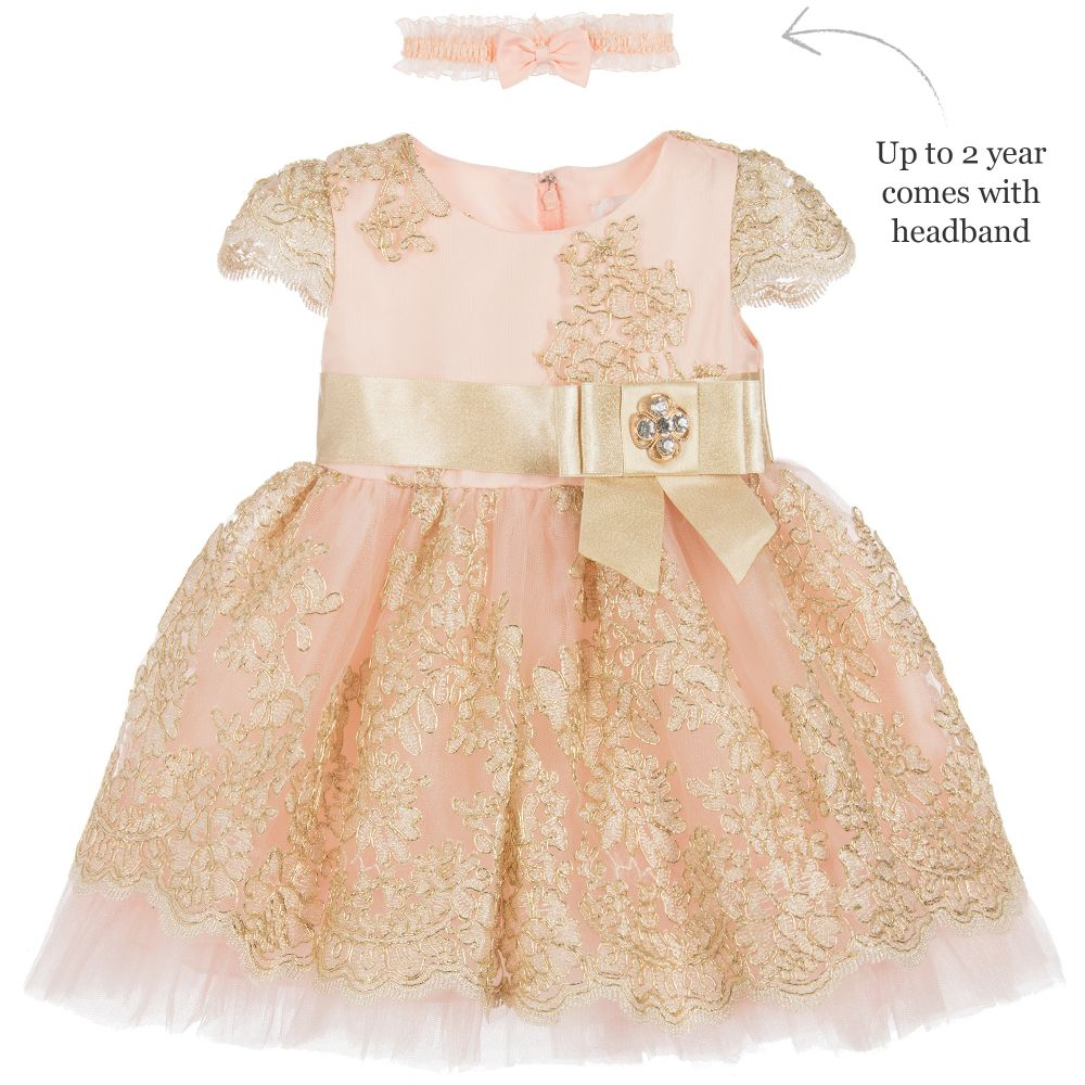 3f5645f9c449 Romano Princess - Pink   Gold Lace Dress Set