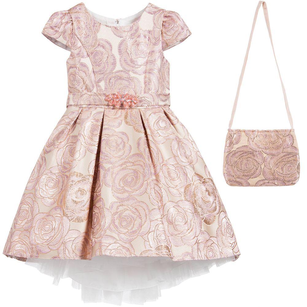 6ccf658e91139 Romano Princess - Rose Pink Brocade Dress   Bag