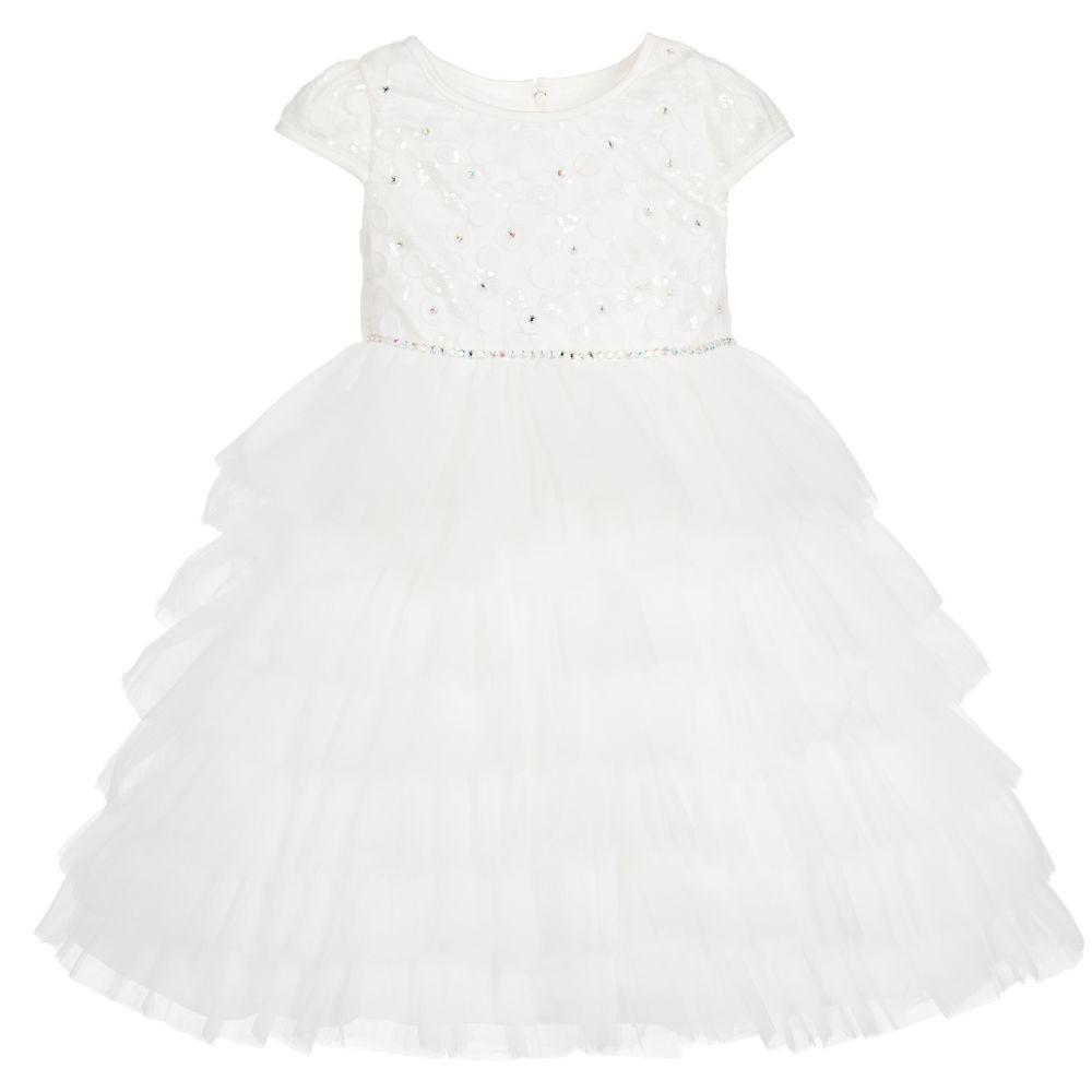 Romano Princess - White Lace & Tulle Dress | Childrensalon