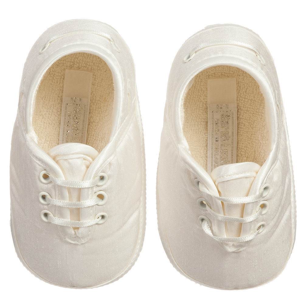 Sarah Louise Baby Ivory Pre Walker Shoes