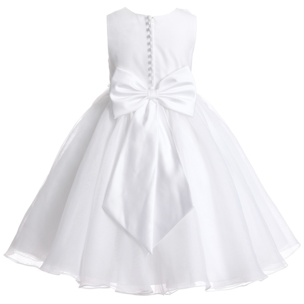 44cbc1802aa55 Sarah Louise - White Tulle Beaded Occasion Dress   Childrensalon