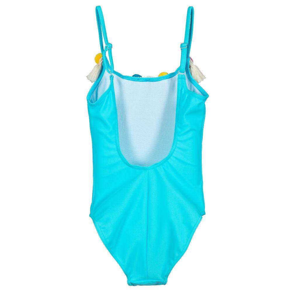 ee4398457548c Selini Action - Blue Pom-Pom Swimsuit