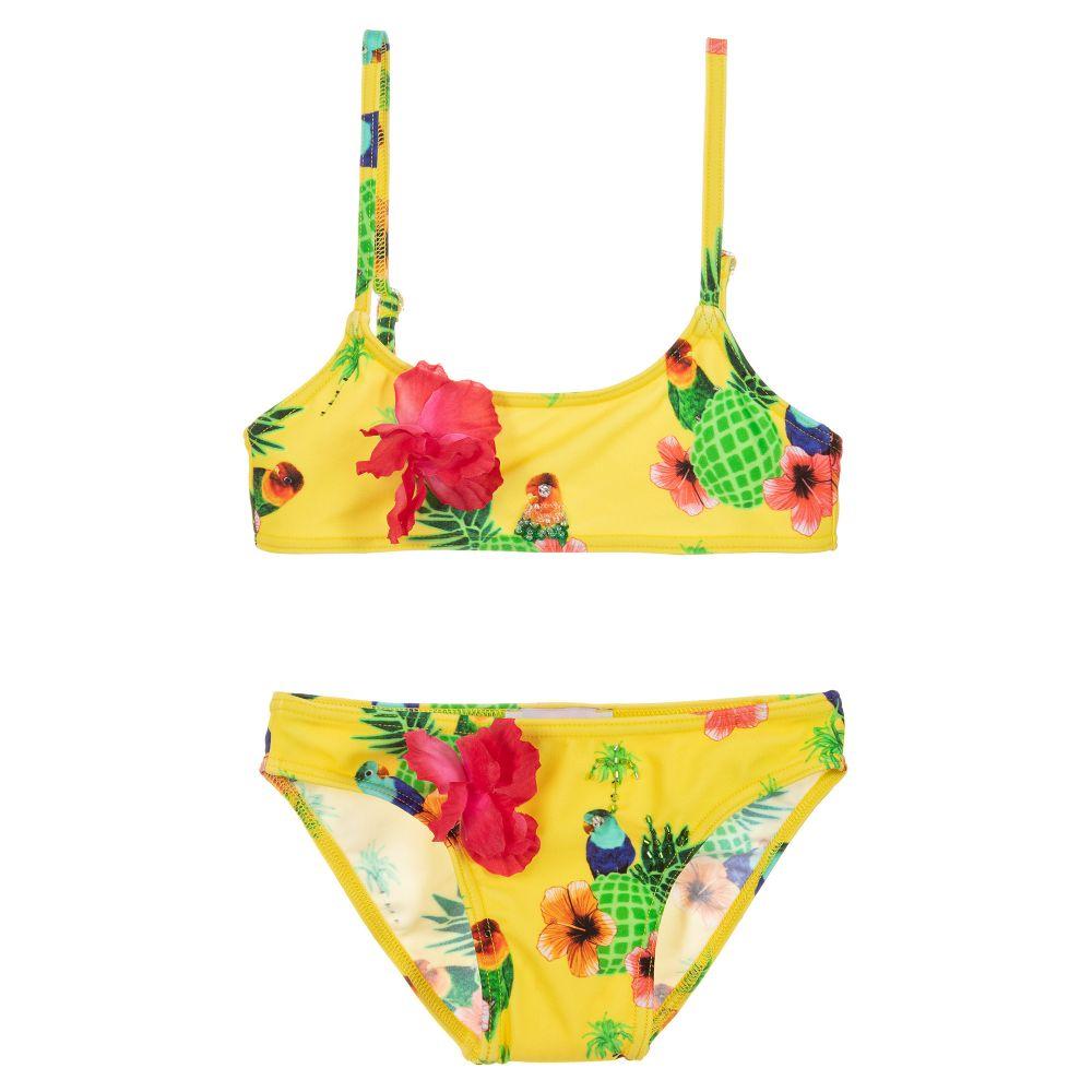 4772de337f582 Selini Action - Girls Yellow Bandeau Bikini | Childrensalon