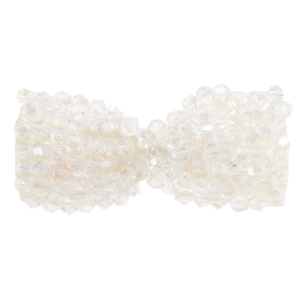Sienna likes to party - Girls Handmade Crystal Bow Hairclip (6.5cm) | Childrensalon