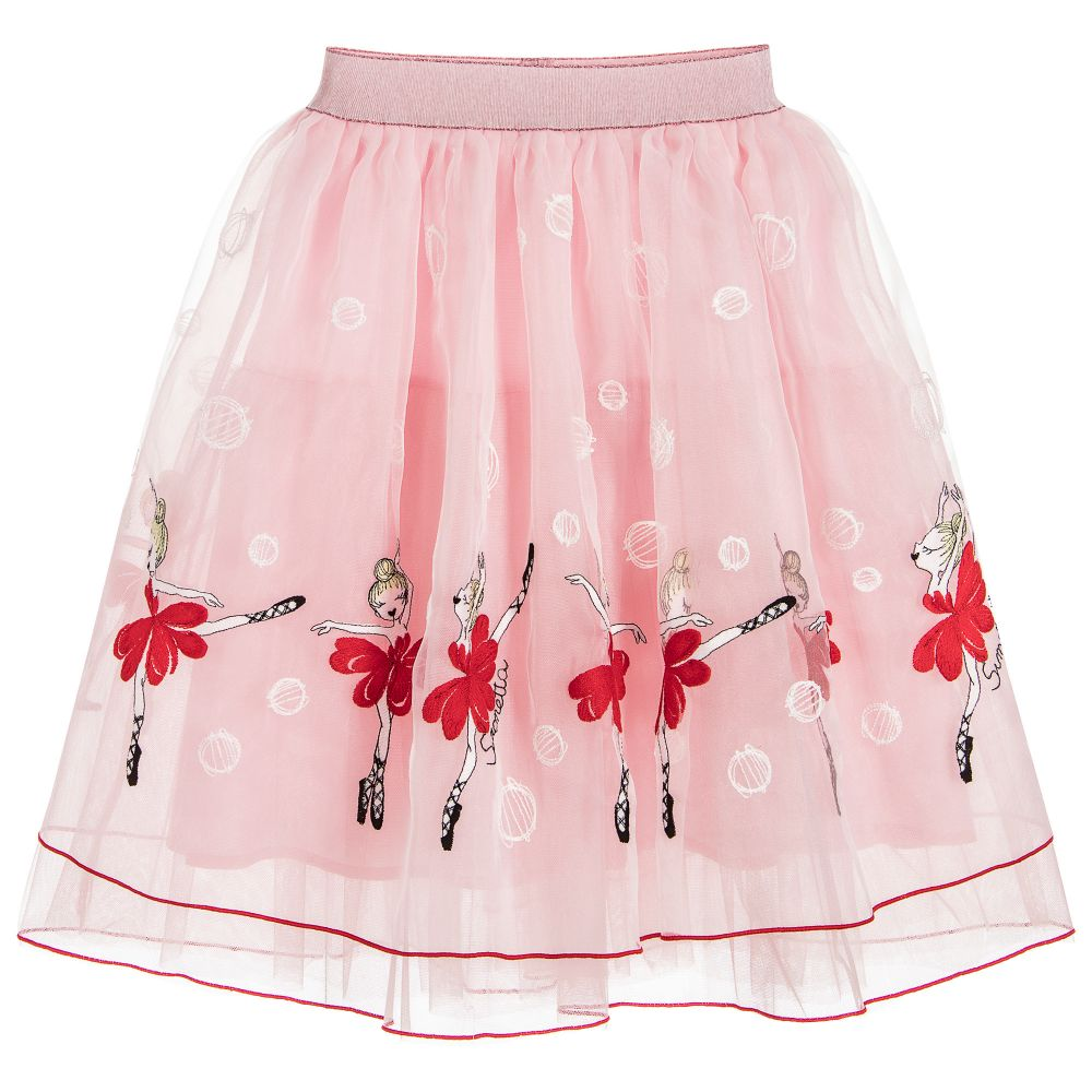 Simonetta - Girls Pink Ballerina Skirt  | Childrensalon