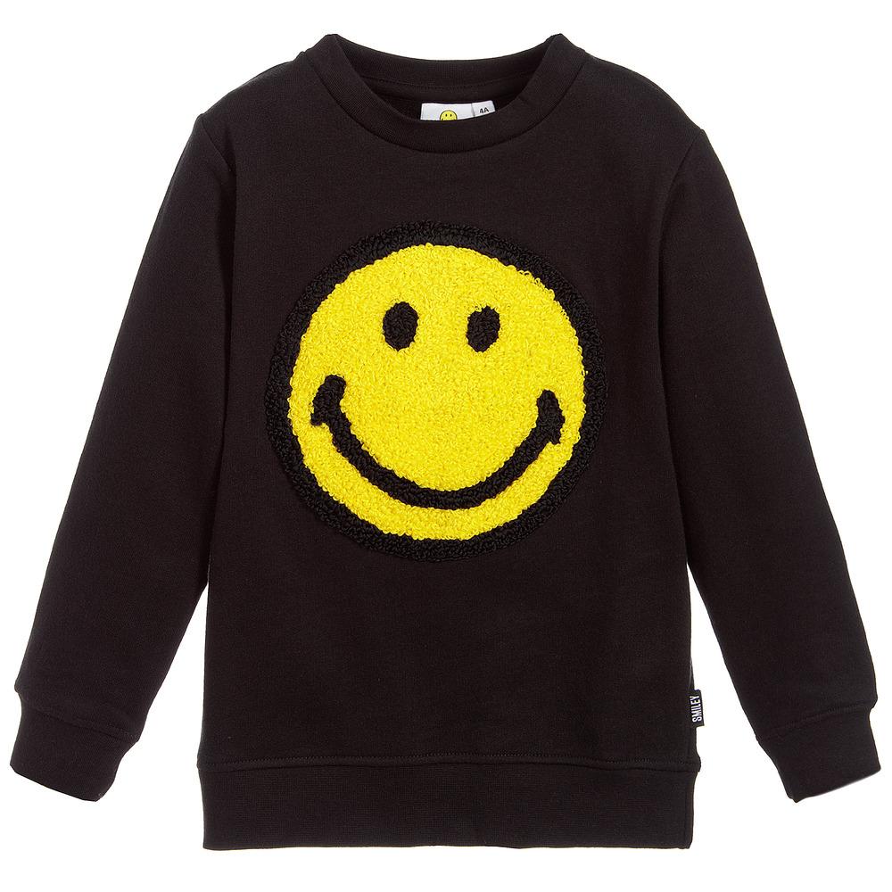 Smiley Originals - Black Logo Sweatshirt | Childrensalon