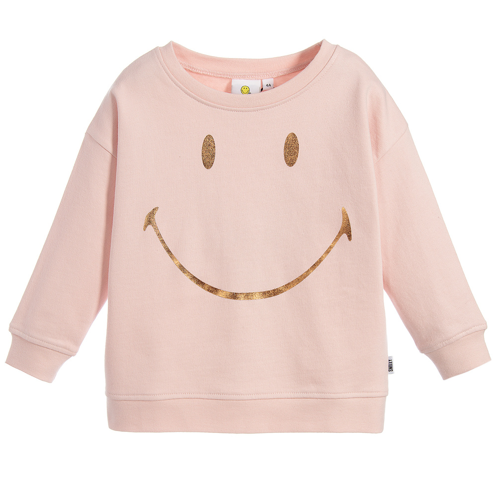 Smiley Originals - Girls Pink & Gold Sweatshirt | Childrensalon