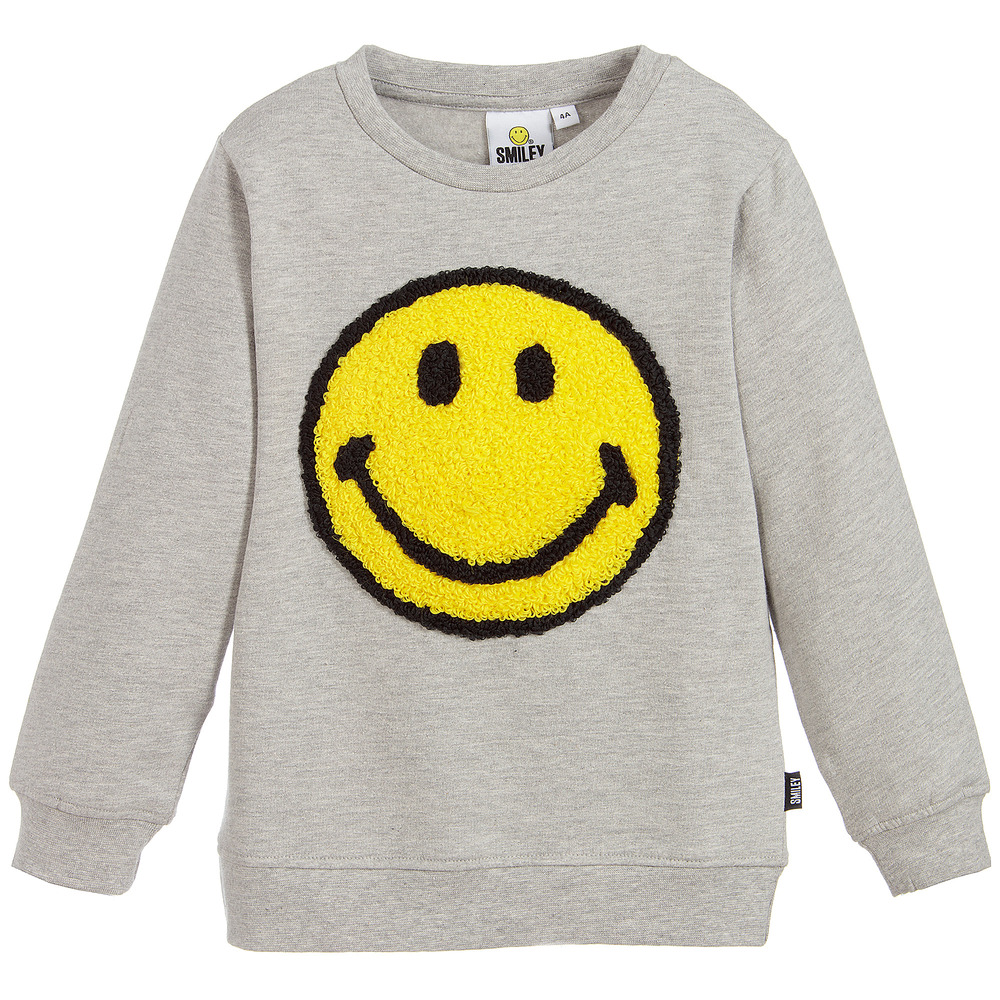 Smiley Originals - Grey Logo Sweatshirt | Childrensalon