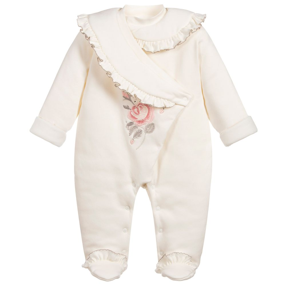 Baby Girls Cotton Pramsuit