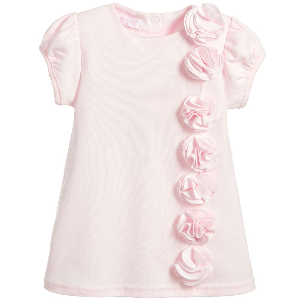 Sofija - Baby Girls Pink Cotton Dress | Childrensalon