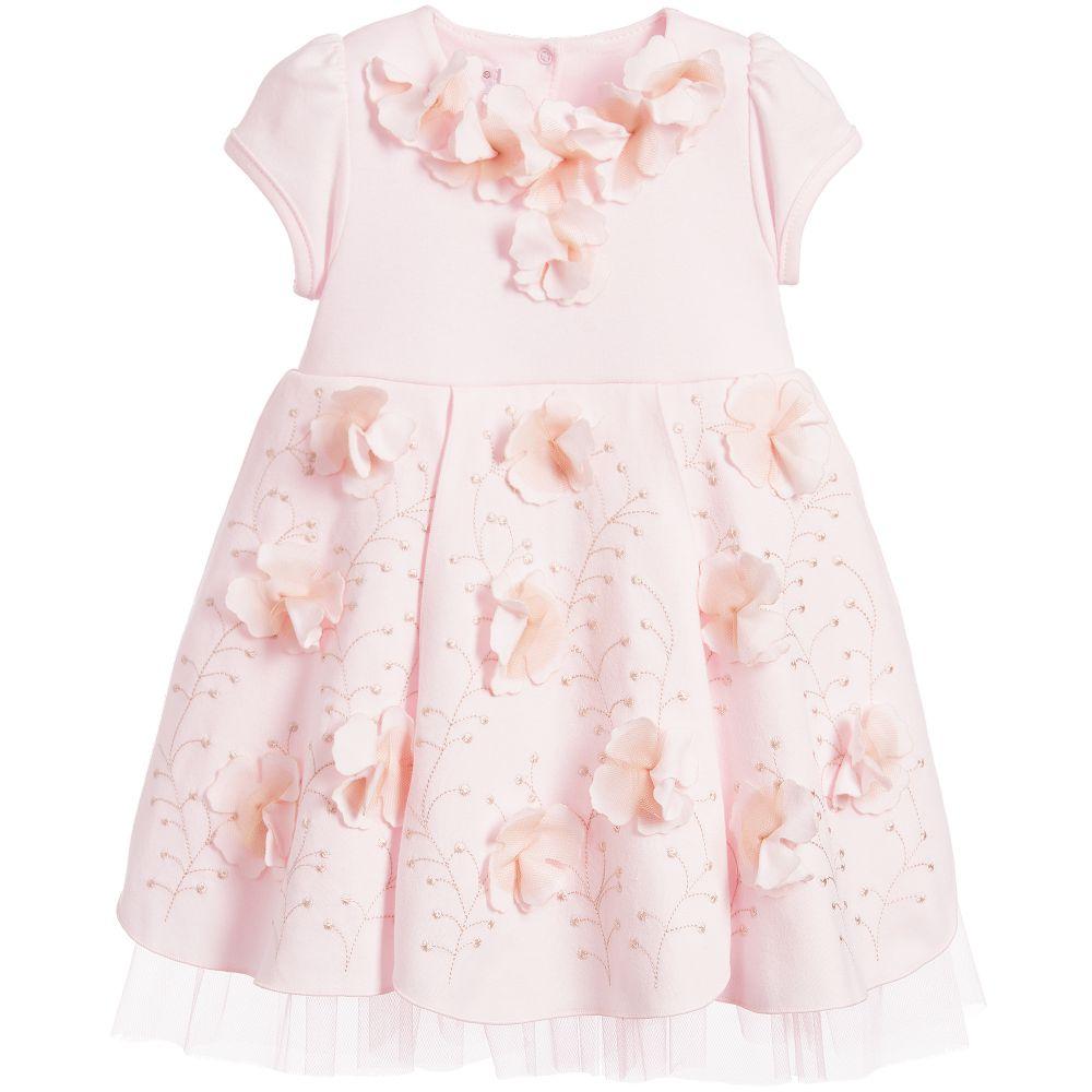 Sofija - Baby Girls Pink Jersey Dress | Childrensalon