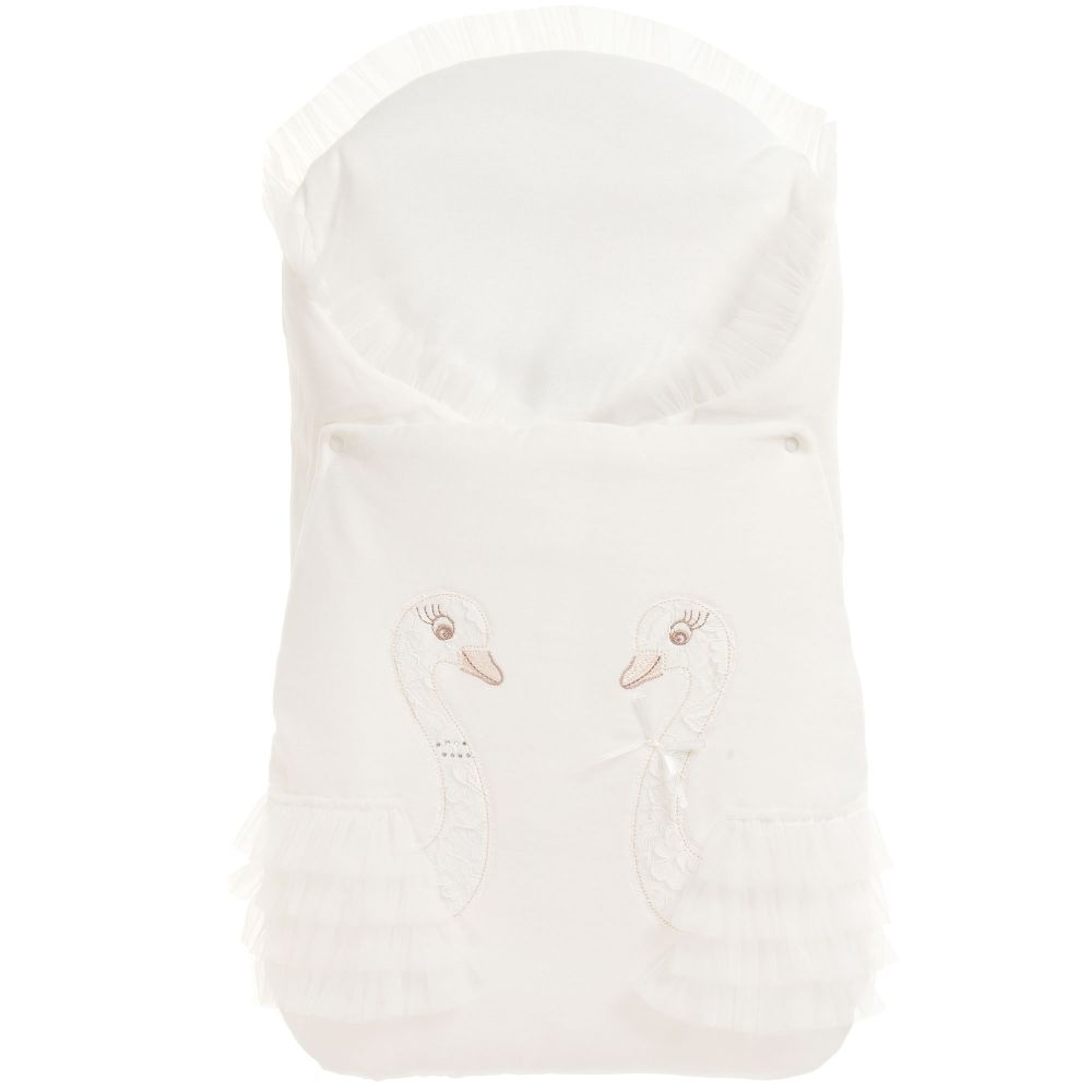 Sofija - Ivory Velour Baby Nest (70cm)   Childrensalon