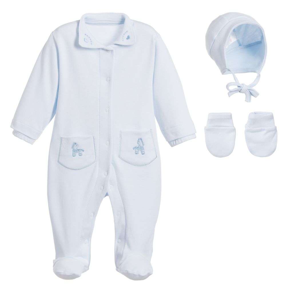 Sofija - Pale Blue Babysuit Gift Set | Childrensalon