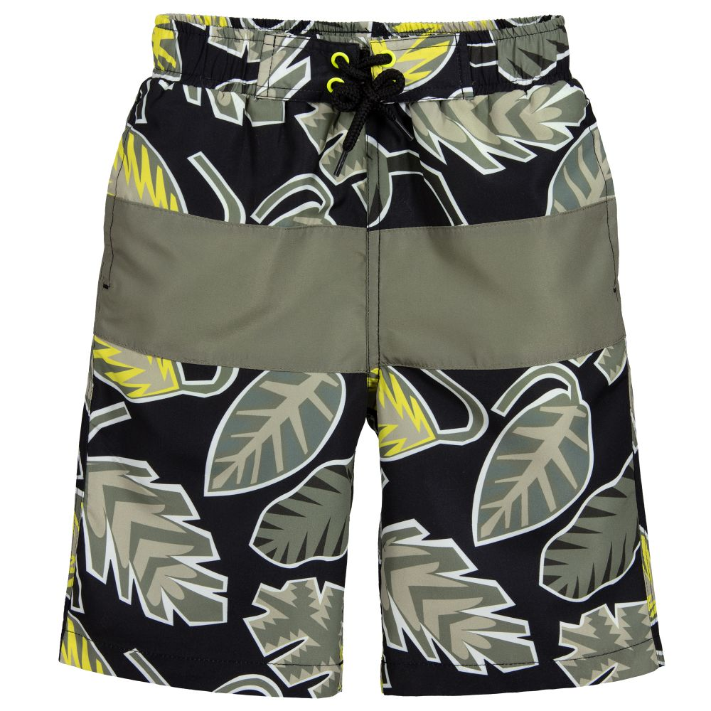 55fe08231b Stella McCartney Kids - Boys Green & Black Swim Shorts | Childrensalon