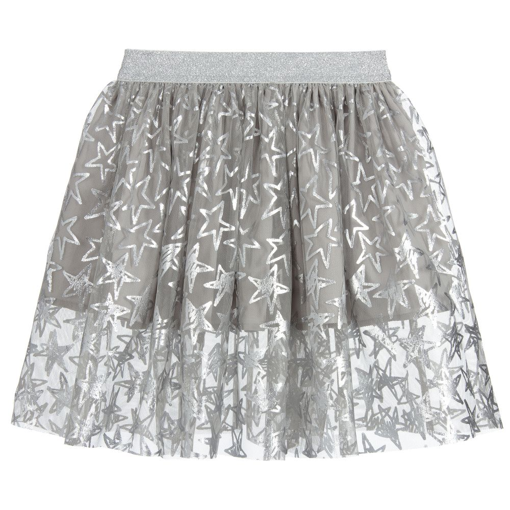 c27a8f616c Stella McCartney Kids - Girls Silver Star Tulle Skirt   Childrensalon