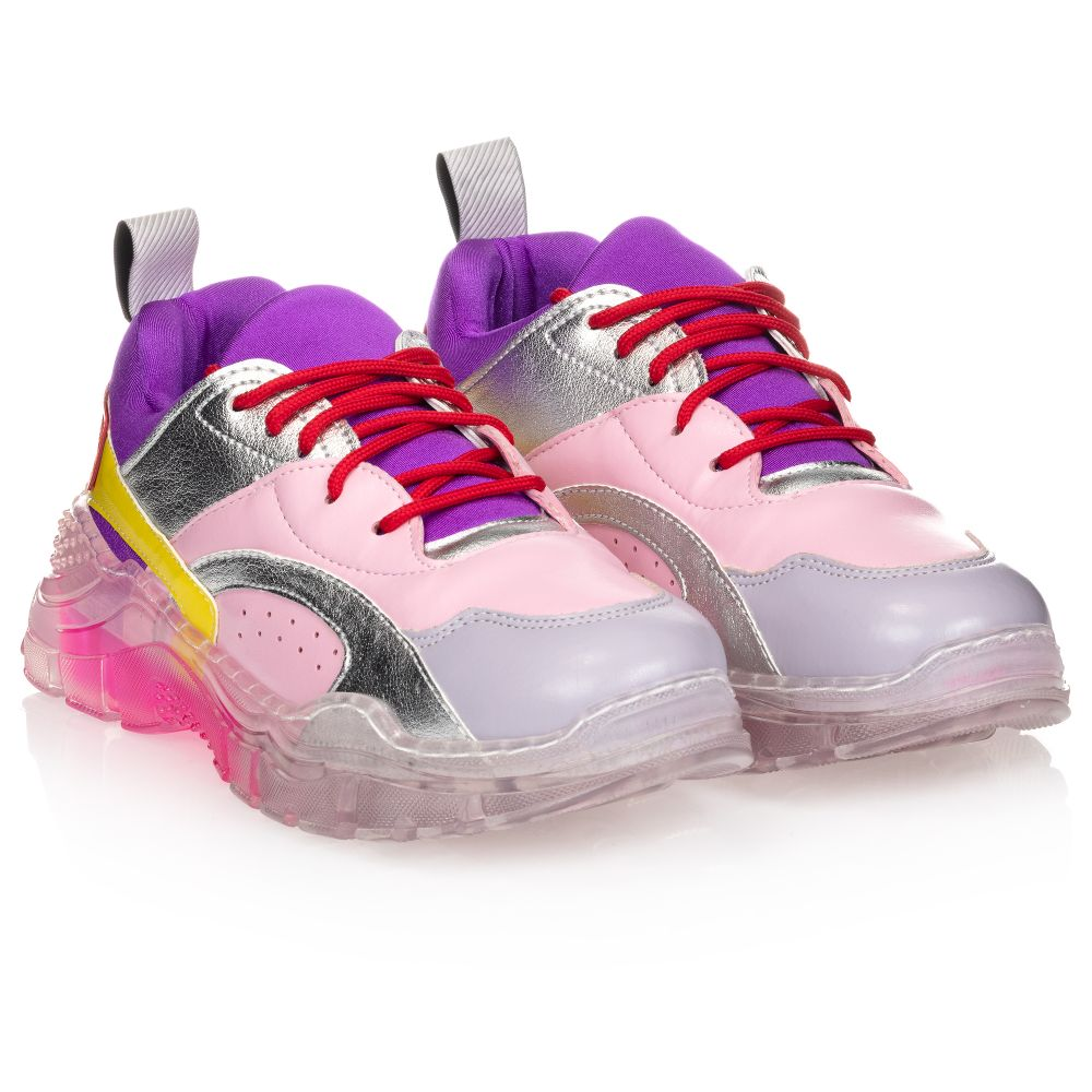 Teen Pink \u0026 Purple Trainers | Childrensalon