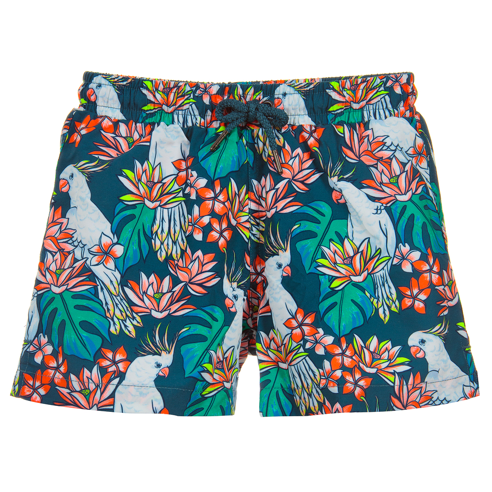 4e68125ceeb9c Sunuva - Boys Green Swim Shorts UPF50+ | Childrensalon